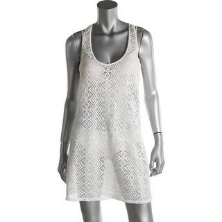 Roxy Womens Crochet Racerback Dress Swim Cover-Up