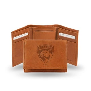 4 Brown NHL Florida Panthers Embossed Trifold Wallet N A