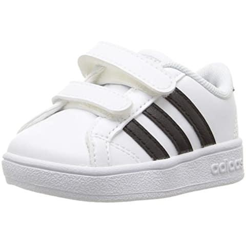 adidas Performance Baby Baseline Sneaker, White/Black/White, 8K M US Toddler