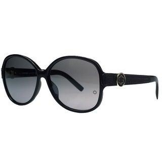 Montblanc MB419/S 01B Black Round Sunglasses - 60-14-135