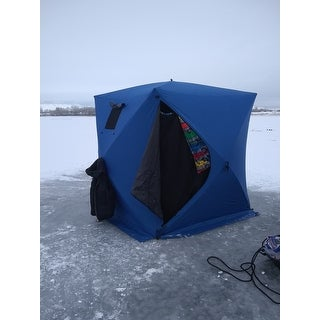 Shop Outsunny 4 Person Insulated Pop-Up Portable Ice Fishing