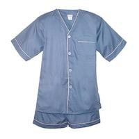 22bfc82827 Shop Majestic Men s Cypress Silk Charmeuse Long Sleeve Pajama Set ...