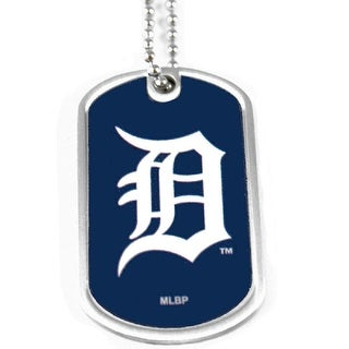 Detroit Tigers Dog Tag Domed Necklace Charm Chain MLB