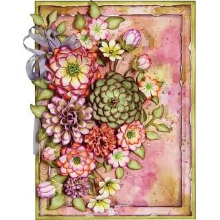Spellbinders Shapeabilities Dies By Marisa Job-Thoughtful Expressions-Succulent & Mum