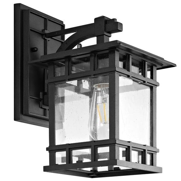 "SAFAVIEH Grayter Outdoor Wall Lantern - 7""x9""x11.8"". Opens flyout."