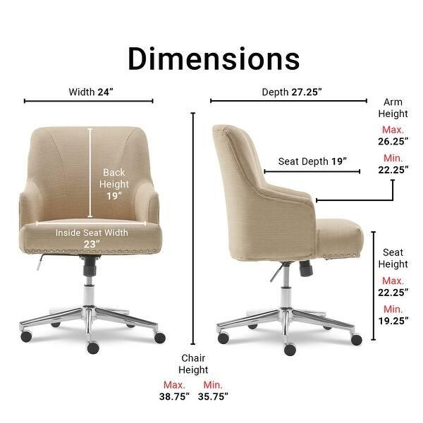 Shop Serta Leighton Home Office Chair On Sale Overstock 18063129