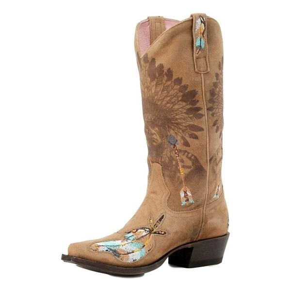 Miss Macie Western Boots Womens Shawnee Cowboy Heel Brown