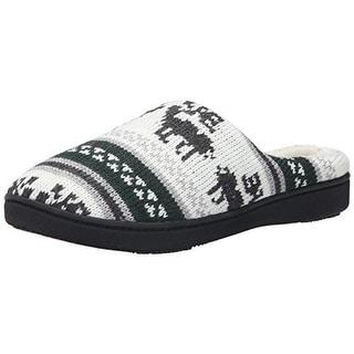Isotoner Womens Knit Memory Foam Novelty Slippers