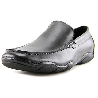 Kenneth Cole Reaction Tour-Nament Men Square Toe Leather Black Loafer