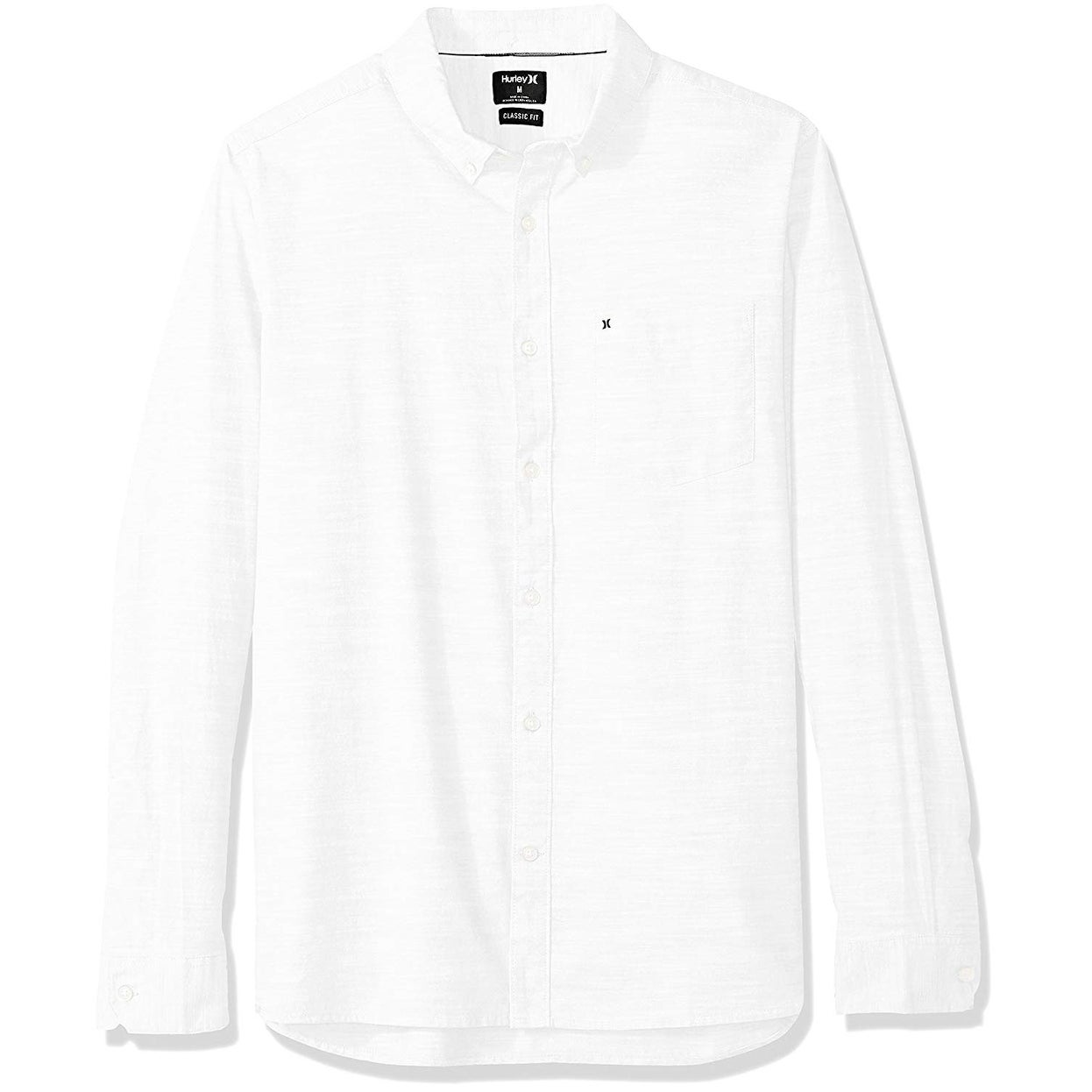 Hurley Mens One /& Only Textured Long Sleeve Button Up