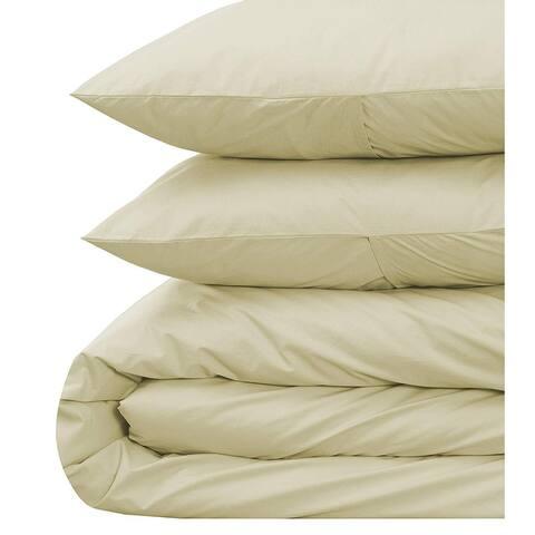 EnvioHome 300 Thread Count GOTS Certified Pure Cotton Duvet Cover Set