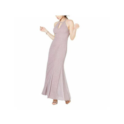 NIGHTWAY Womens Purple Sleeveless Maxi Sheath Formal Dress Size 14