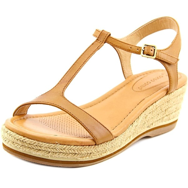 Corso Como Chera Women Open Toe Leather Wedge Sandal