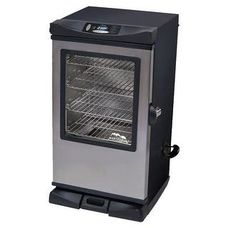 Masterbuilt 20077515 Front Controller Electric Smoker With Window And Rf Controller, 30-Inch|https://ak1.ostkcdn.com/images/products/is/images/direct/9f3a293aa61a253b69c1524bee37a56834384c1c/Masterbuilt-20077515-Front-Controller-Electric-Smoker-With-Window-And-Rf-Controller%2C-30-Inch.jpg?impolicy=medium