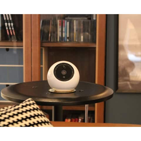 Amaryllo Apollo: Biometric Auto Tracking PTZ Security Camera with Face Recognition, Night Vision, Motion Alert - White