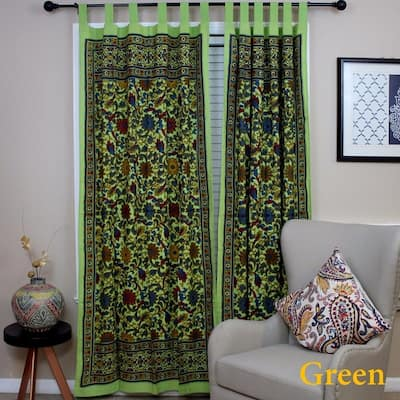 Green Tab Top Curtains D Online At