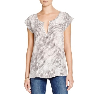 Joie Womens Ezell Pullover Top Silk Printed