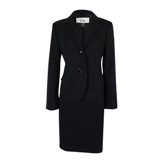 Le Suit Women's Cannes Two Button Skirt Suit