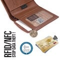 Ikepod Slim Carry Wallet (Tan of 7 Colour) [Italy Made // Top Leather] [RFID Blocking and Slim Stitching!] - Thumbnail 3
