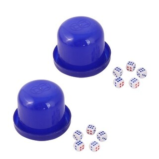 Entertainment Casual Plastic Toy Guessing Shaker Dice Cup Dices Dark Blue 2 Set