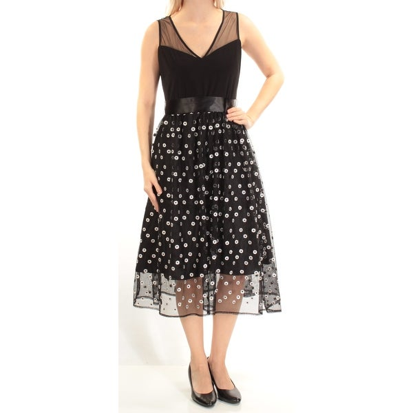 e4a6c6702a7 Shop Womens Black Sleeveless Midi Baby Doll Cocktail Dress Size  6 - Free  Shipping On Orders Over  45 - Overstock - 22422156