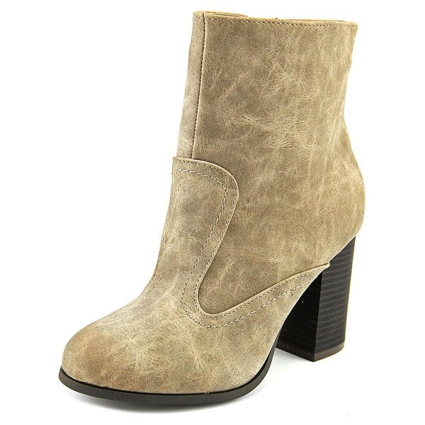2 Lips Too Too Limit Women Round Toe Leather Ankle Boot