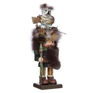 """16"""" Hollywood Owl Hat Woodsman Nutcracker"""