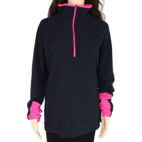 Columbia Womens Jacket Pink Gray Size 1X Plus 1/2 Zip Fleece Pullover
