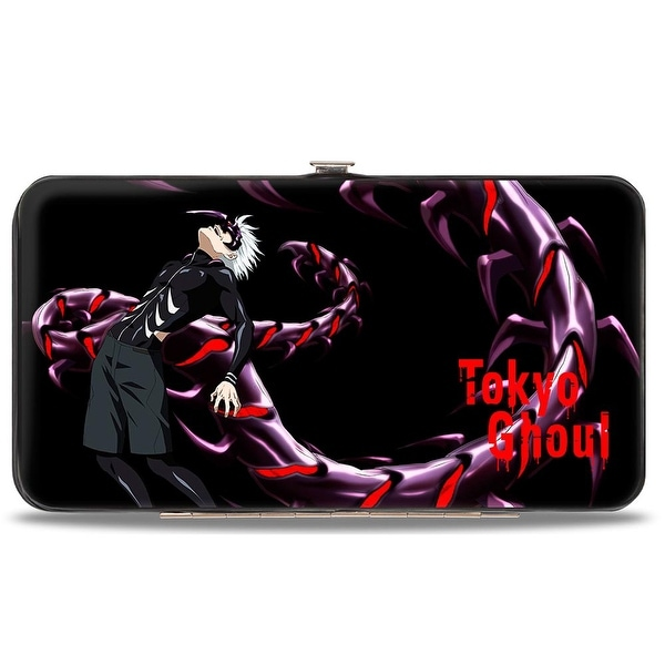 Tokyo Ghoul Centipede Ken Black Reds Purples Hinged Wallet - One Size Fits most