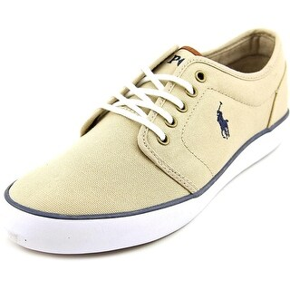 Polo Ralph Lauren Jeethan Low Youth Canvas Tan Fashion Sneakers