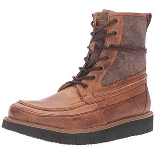 Steve Madden Mens Redmund Casual Boots Leather Lace Up