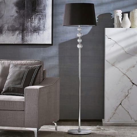 Quinn Black Shade 1-light Chrome Floor Lamp by iNSPIRE Q Modern