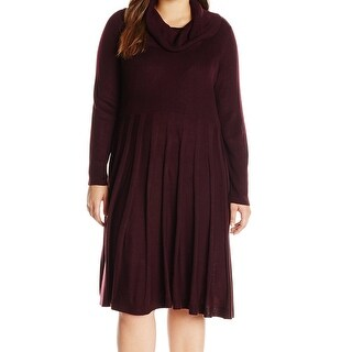 Calvin Klein NEW Purple Women's Size 1X Plus Ribbed Sweater Dress