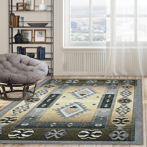 Miranda Haus Parrish Printed Non-Slip Washable Indoor Area Rug