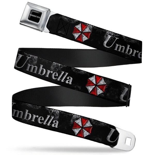 Resident Evil Full Color Black White Resident Evil Umbrella Weathered Black Seatbelt Belt
