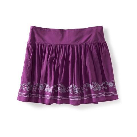 Aeropostale Womens Vine Knit Mini Skirt, purple, Small