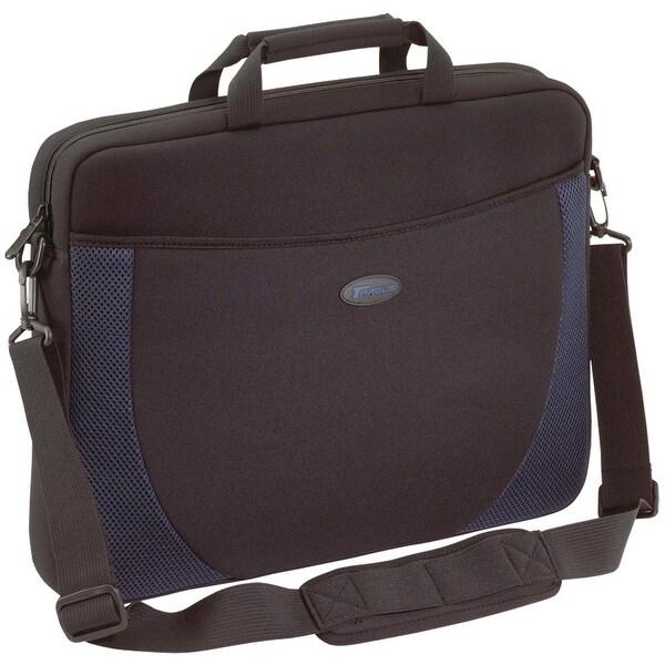 Targus - Carrying Case - For Laptop - Neoprene - Shoulder Strap - Blue; Black
