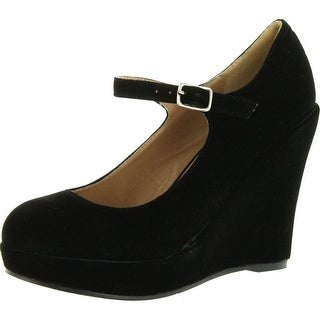 Bonnibel Dolly-1 Womens Round Toe Mary Jane Platform Wedge Pumps