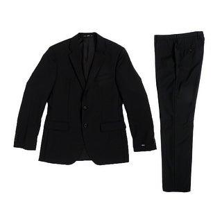 Hugo Boss Men's The Grand Central Suit (36R, Black) - Black - 36r