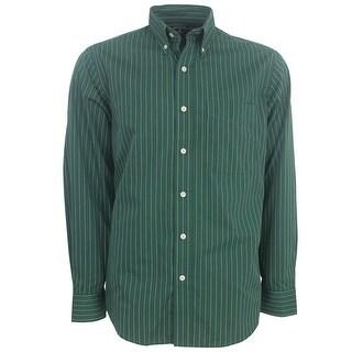 Antigua Men's Achieve Long-Sleeve Oxford Style Striped Shirt, Brand NEW