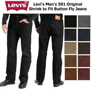 Link to Levi's Men's 501 Original Shrink to Fit Button Fly Jeans Similar Items in Pants