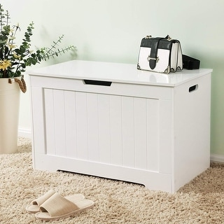 Link to White Lift Top Entryway Storage Chest Similar Items in Decorative Accessories