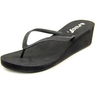 Reef Krystal Star Women  Open Toe Synthetic Black Wedge Sandal