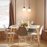 Edison Simple Glass Pendant Light Fixture Clear/Antique Brass