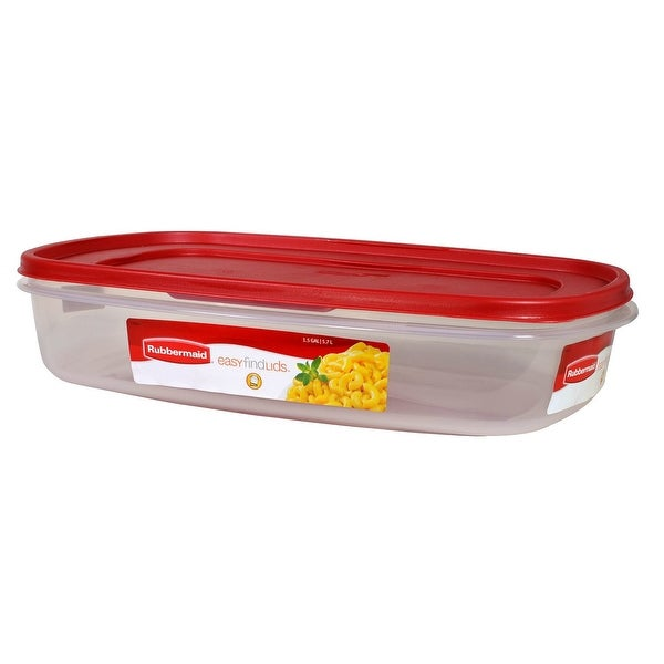 Rubbermaid 1777163 Easy Find Lids Rectangle Food Storage Container, 1.5  Gallon