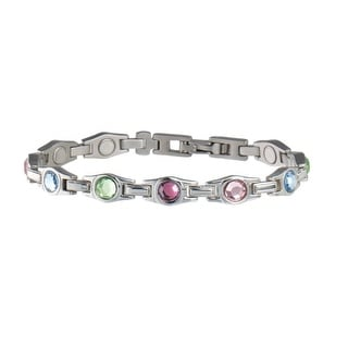 Sabona Jewelry Womens Bracelet Lady Executive Gem Magnetic Multi 312