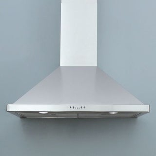 "Miseno MH00636AS 750 CFM 36"" Stainless Steel Wall Mounted Range Hood with Dual H"