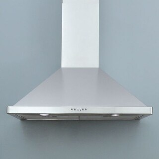"""Miseno MH00636AS 750 CFM 36"""" Stainless Steel Wall Mounted Range Hood with Dual Halogen Lighting System and Electronic LED"""