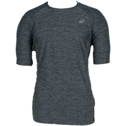 ASICS Lite Show Sleeve Mens Top Athletic T-Shirt Short Sleeve - Grey