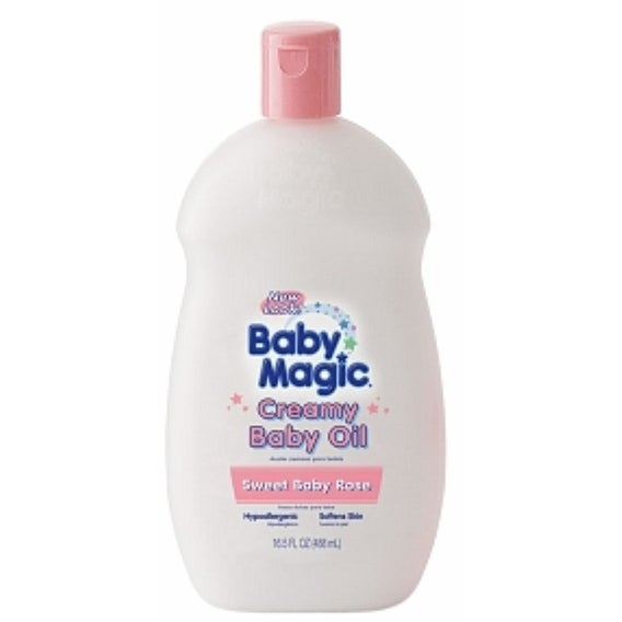 Baby Magic Creamy Baby Oil, Sweet Baby Rose 16.5 oz